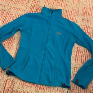 Woman's teal fleece THE NORTH FACE jacket SMALL